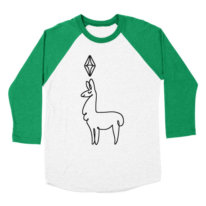 Lovely Llama Men's Baseball Triblend T-Shirt by The Sims Official Threadless Store
