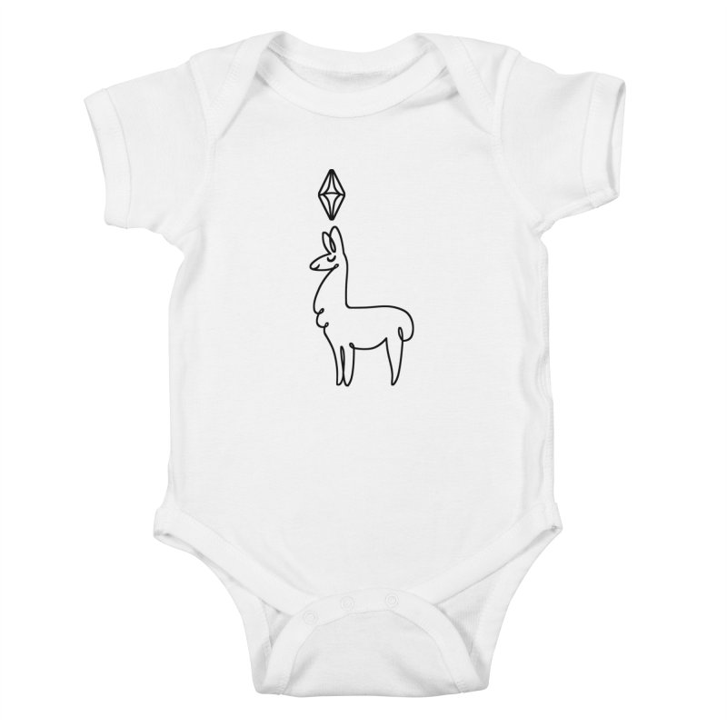 Lovely Llama Kids Baby Bodysuit by The Sims Official Threadless Store