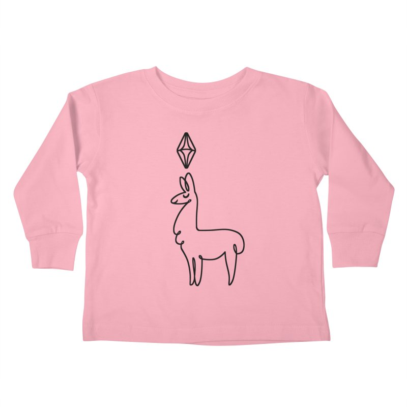 Lovely Llama Kids Toddler Longsleeve T-Shirt by The Sims Official Threadless Store