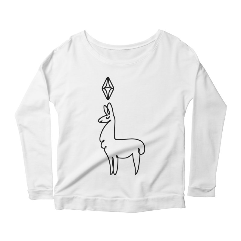 Lovely Llama Women's Longsleeve Scoopneck  by The Sims Official Threadless Store
