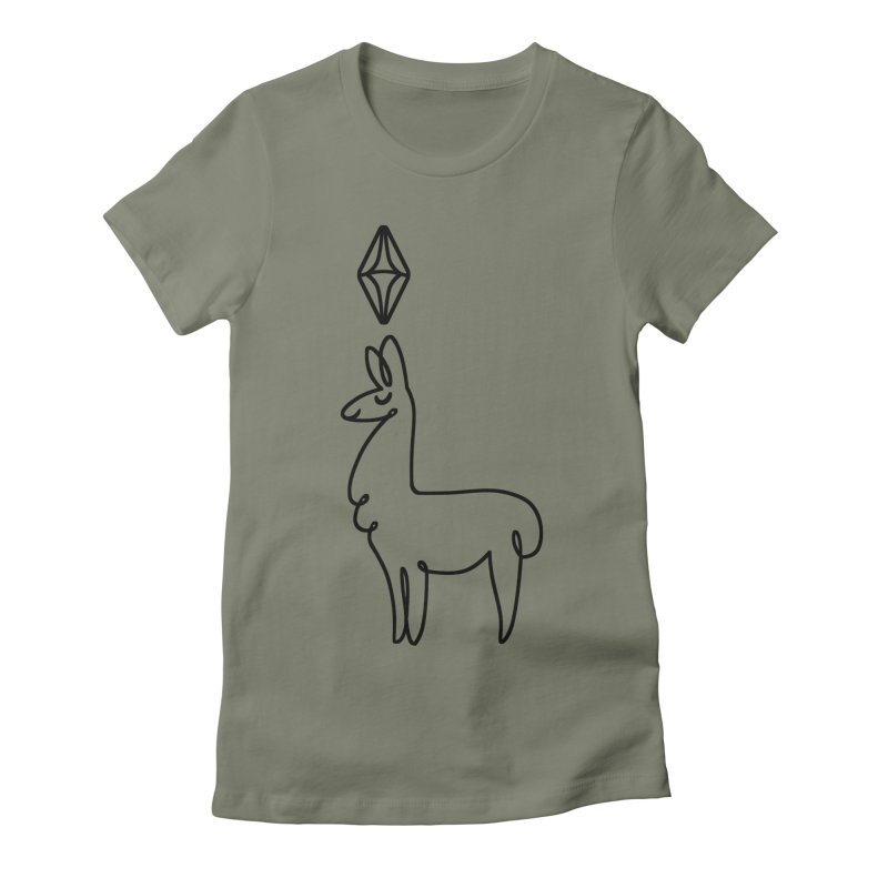 Lovely Llama Women's Fitted T-Shirt by The Sims Official Threadless Store