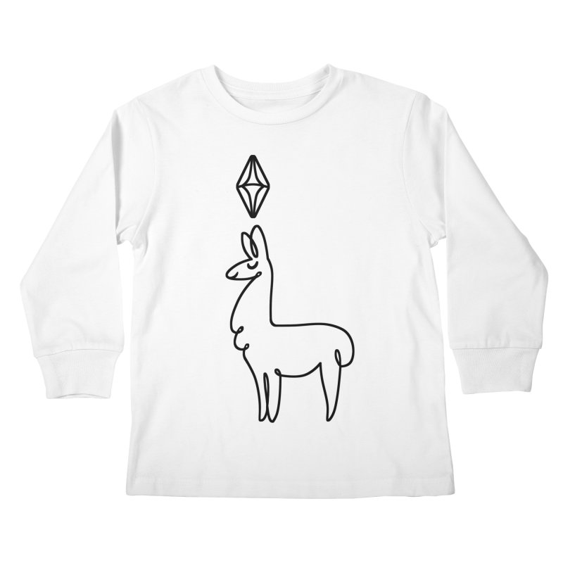 Lovely Llama Kids Longsleeve T-Shirt by The Sims Official Threadless Store