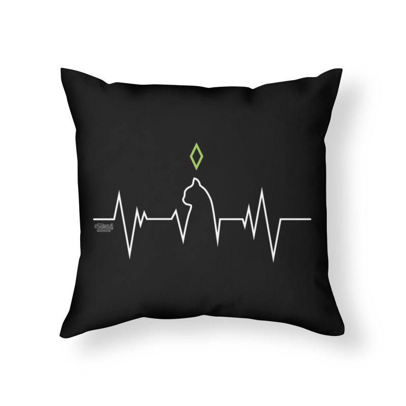 The Sims 4 Veterinarian - Cat Home Throw Pillow by The Sims Official Threadless Store