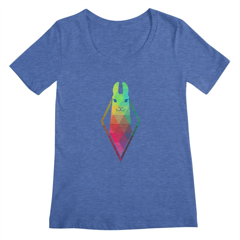Awe-sim Llama Women's Scoopneck by The Sims Official Threadless Store