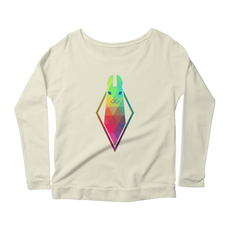 Awe-sim Llama Women's Longsleeve Scoopneck  by The Sims Official Threadless Store