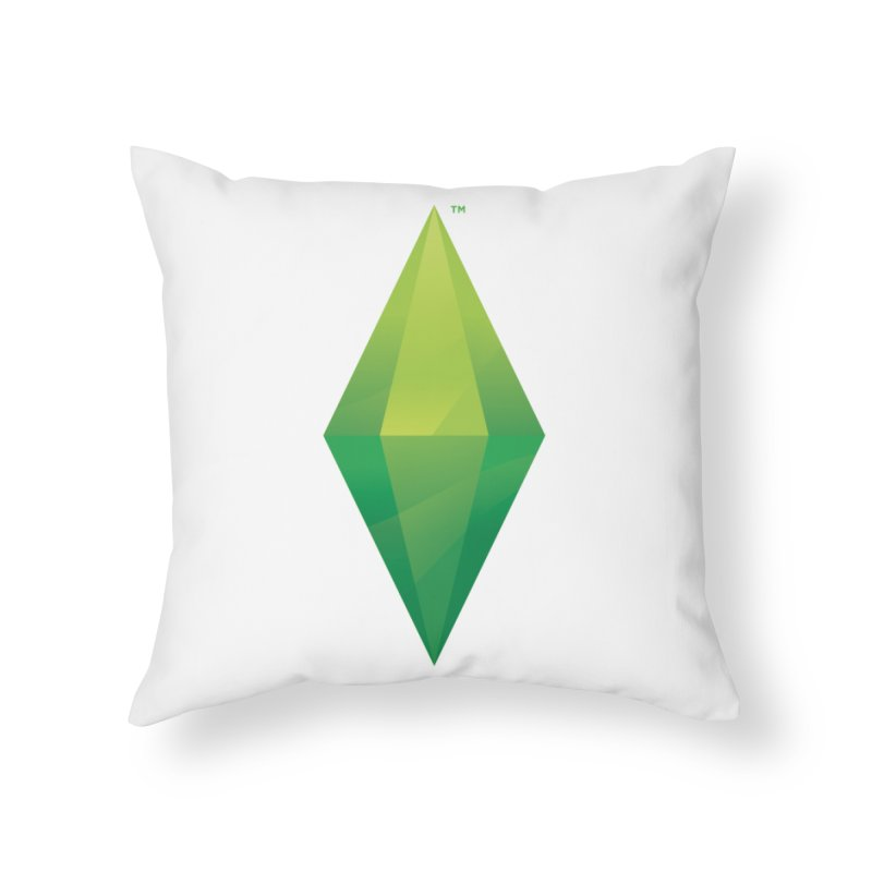 Green Plumbob Home Throw Pillow by The Sims Official Threadless Store