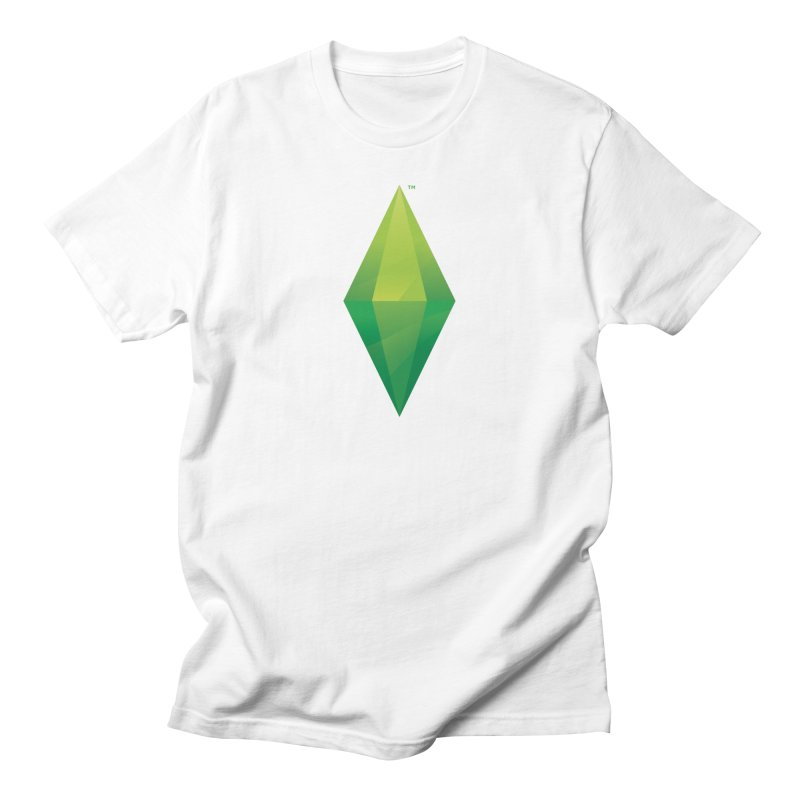 Green Plumbob in Men's Regular T-Shirt White by The Sims Official Threadless Store