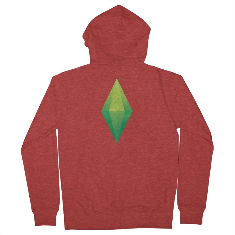 Green Plumbob Women's Zip-Up Hoody by The Sims Official Threadless Store