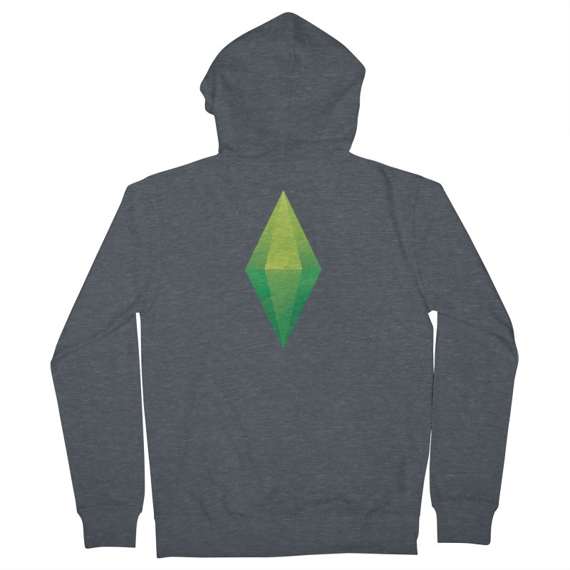 Green Plumbob Men's Zip-Up Hoody by The Sims Official Threadless Store