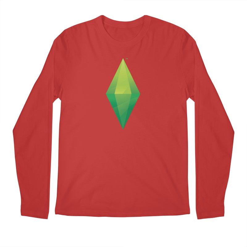 Green Plumbob Men's Longsleeve T-Shirt by The Sims Official Threadless Store