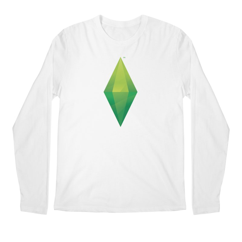 Green Plumbob Men's Longsleeve T-Shirt by The Sims Official Threadless Store