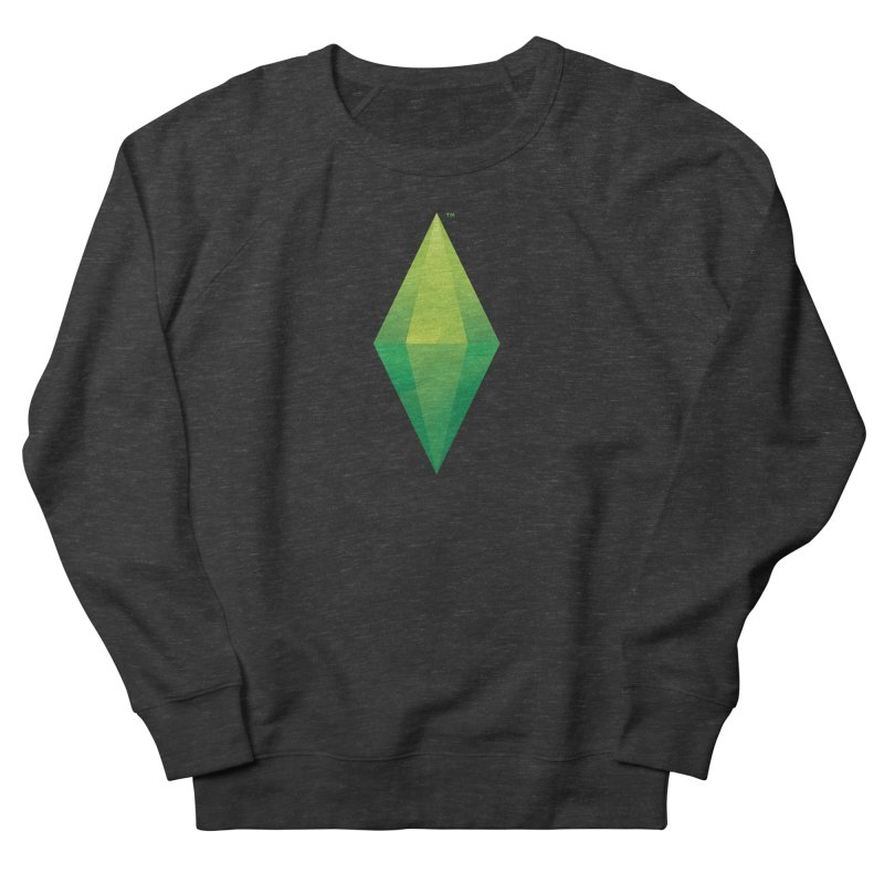 Green Plumbob Women's French Terry Sweatshirt by The Sims Official Threadless Store