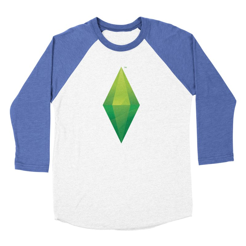 Green Plumbob Men's Baseball Triblend T-Shirt by The Sims Official Threadless Store