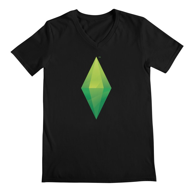 Green Plumbob Men's V-Neck by The Sims Official Threadless Store