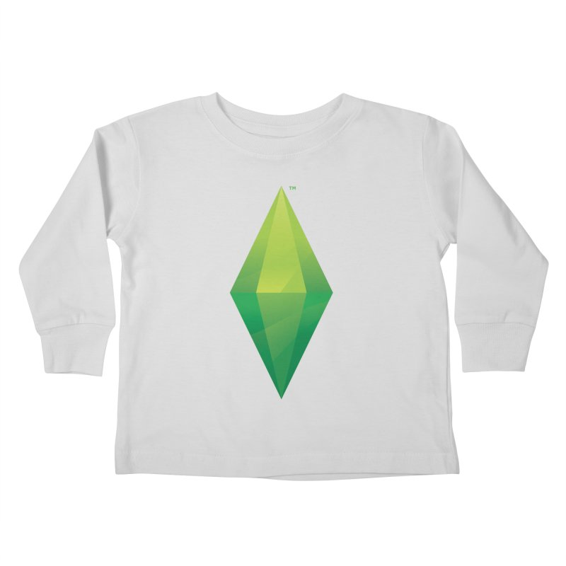 Green Plumbob Kids Toddler Longsleeve T-Shirt by The Sims Official Threadless Store