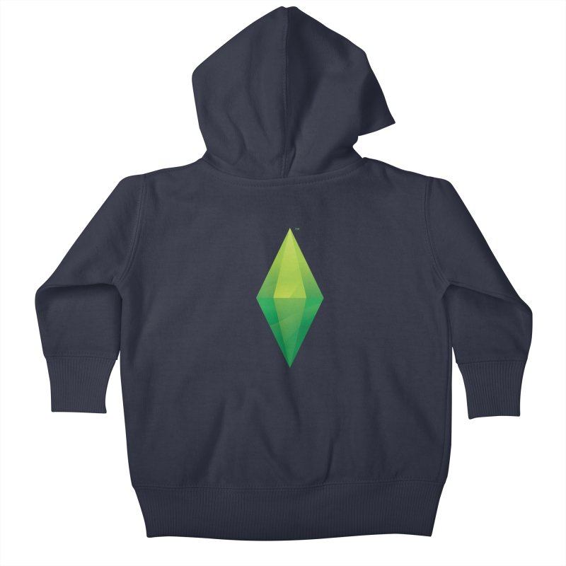 Green Plumbob Kids Baby Zip-Up Hoody by The Sims Official Threadless Store