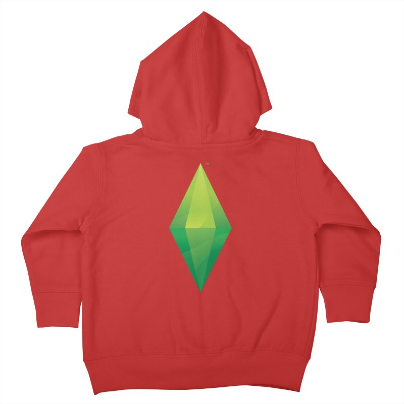 Green Plumbob Kids Toddler Zip-Up Hoody by The Sims Official Threadless Store