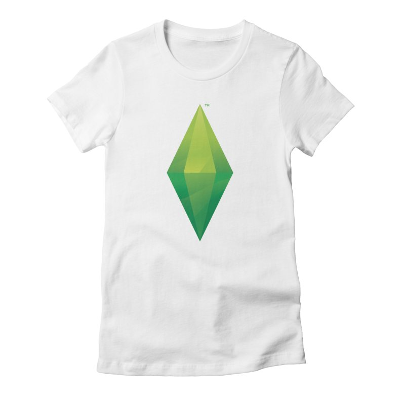 Green Plumbob Women's Fitted T-Shirt by The Sims Official Threadless Store