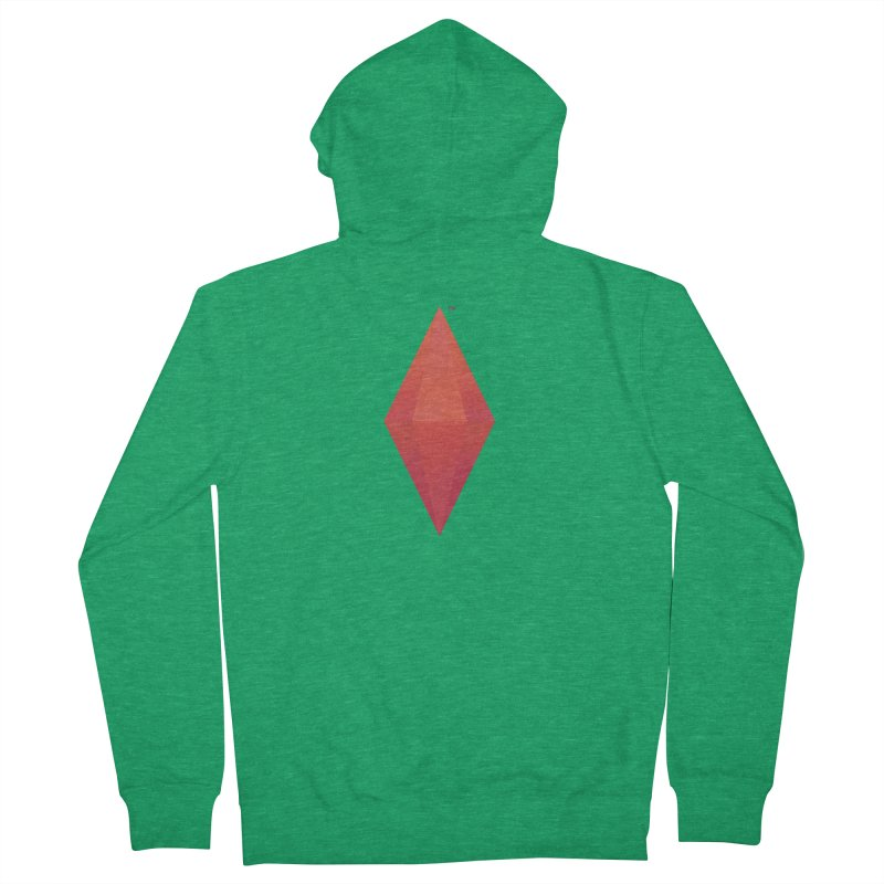 Red Plumbob Women's Zip-Up Hoody by The Sims Official Threadless Store