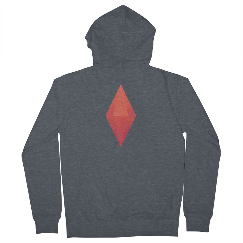 Red Plumbob Men's Zip-Up Hoody by The Sims Official Threadless Store