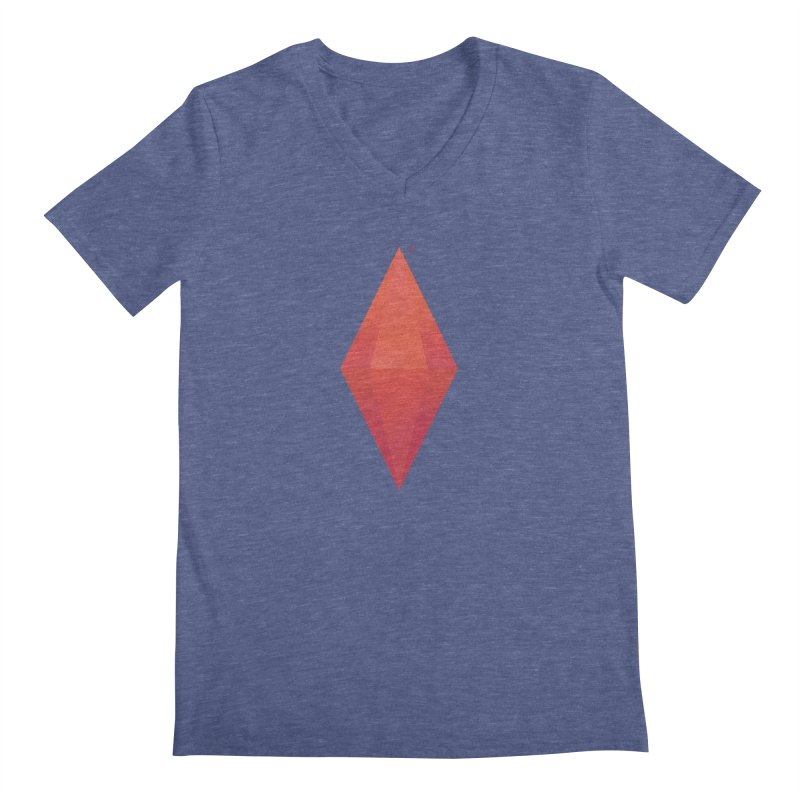 Red Plumbob Men's V-Neck by The Sims Official Threadless Store