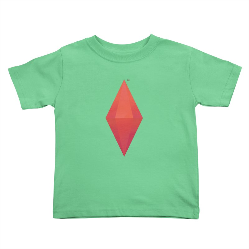 Red Plumbob Kids Toddler T-Shirt by The Sims Official Threadless Store