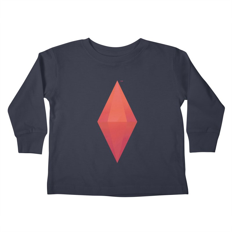 Red Plumbob Kids Toddler Longsleeve T-Shirt by The Sims Official Threadless Store
