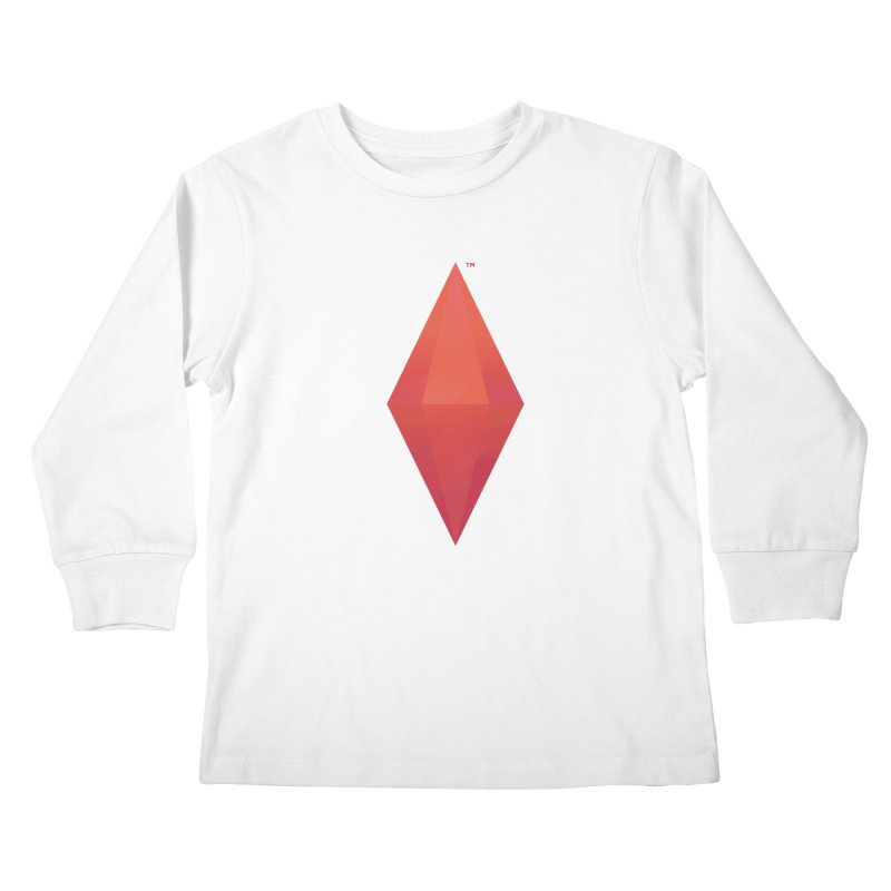 Red Plumbob Kids Longsleeve T-Shirt by The Sims Official Threadless Store