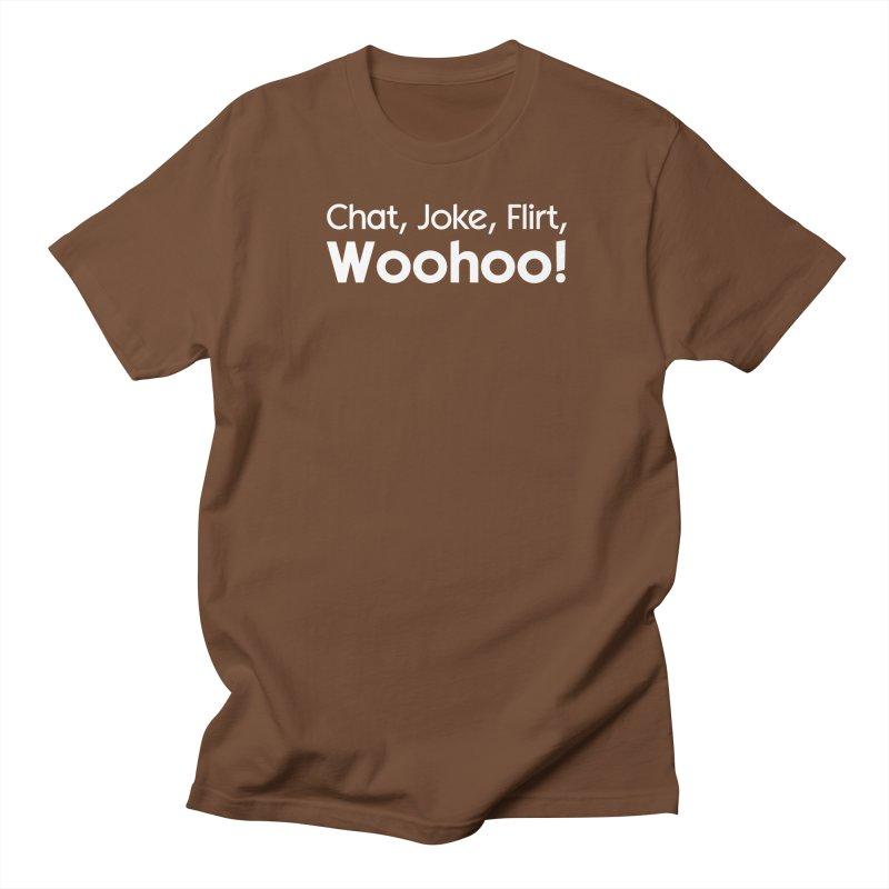 Chat, Joke, Flirt, Woohoo! Men's T-shirt by The Sims Official Threadless Store