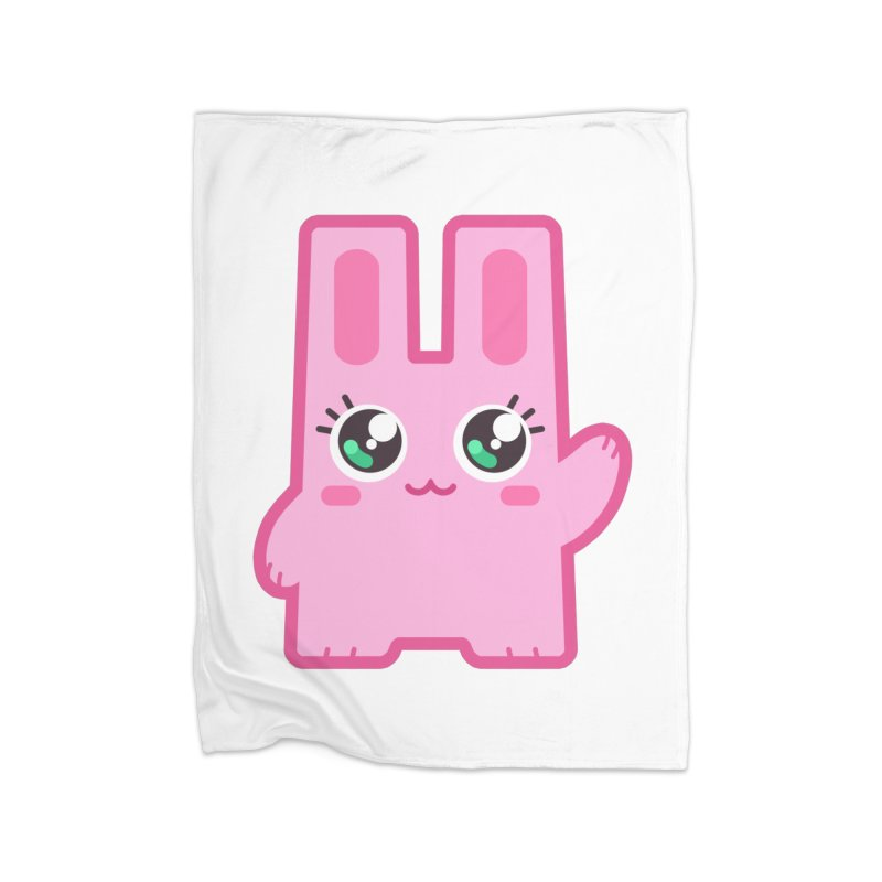 Freezer Bunny Home Fleece Blanket Blanket by The Sims Official Threadless Store