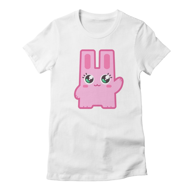 Freezer Bunny in Women's Fitted T-Shirt White by The Sims Official Threadless Store
