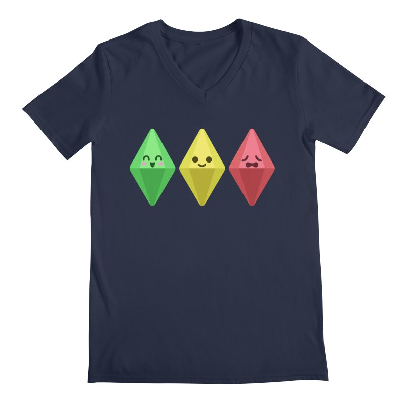 The Sims 18th Anniversary Men's V-Neck by The Sims Official Threadless Store