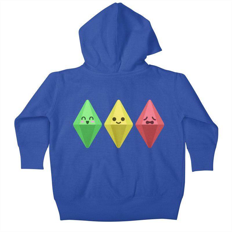 The Sims 18th Anniversary Kids Baby Zip-Up Hoody by The Sims Official Threadless Store