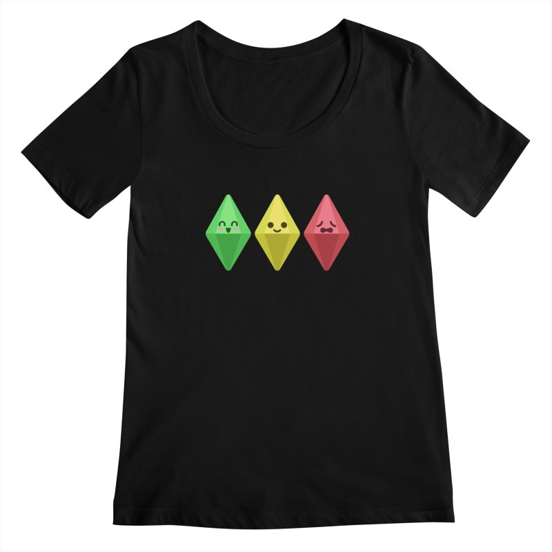 The Sims 18th Anniversary Women's Scoopneck by The Sims Official Threadless Store
