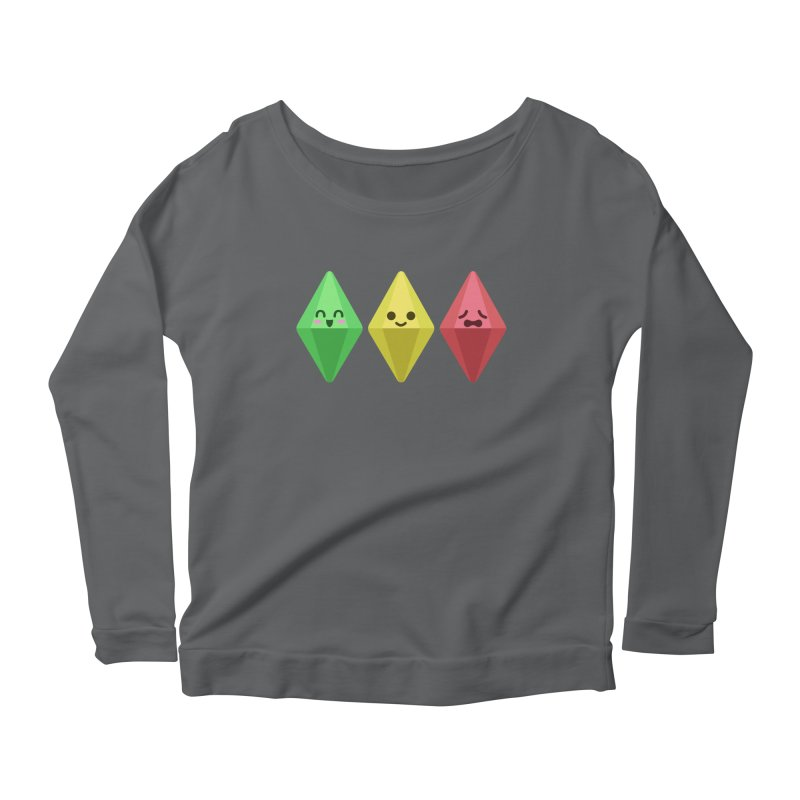 The Sims 18th Anniversary Women's Longsleeve Scoopneck  by The Sims Official Threadless Store
