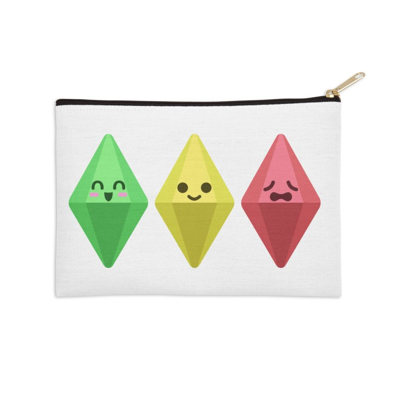 The Sims 18th Anniversary Accessories Zip Pouch by The Sims Official Threadless Store