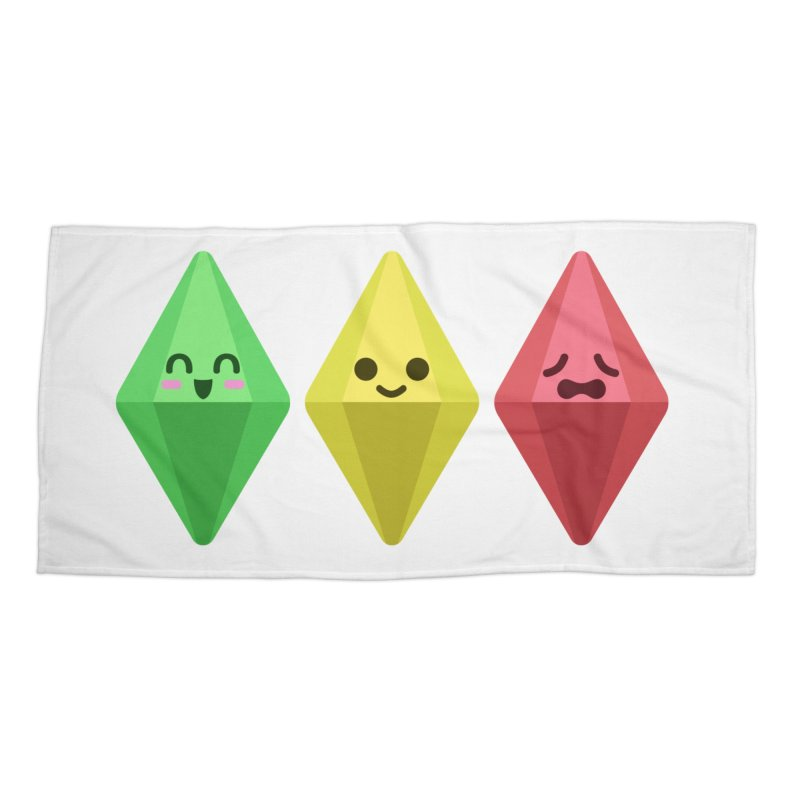 The Sims 18th Anniversary Accessories Beach Towel by The Sims Official Threadless Store