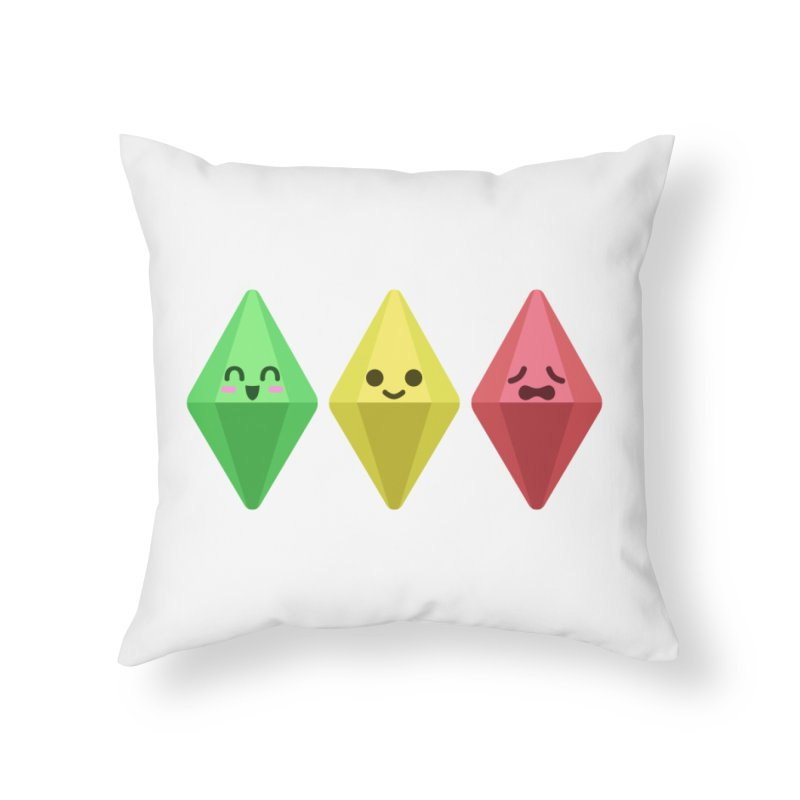 The Sims 18th Anniversary Home Throw Pillow by The Sims Official Threadless Store