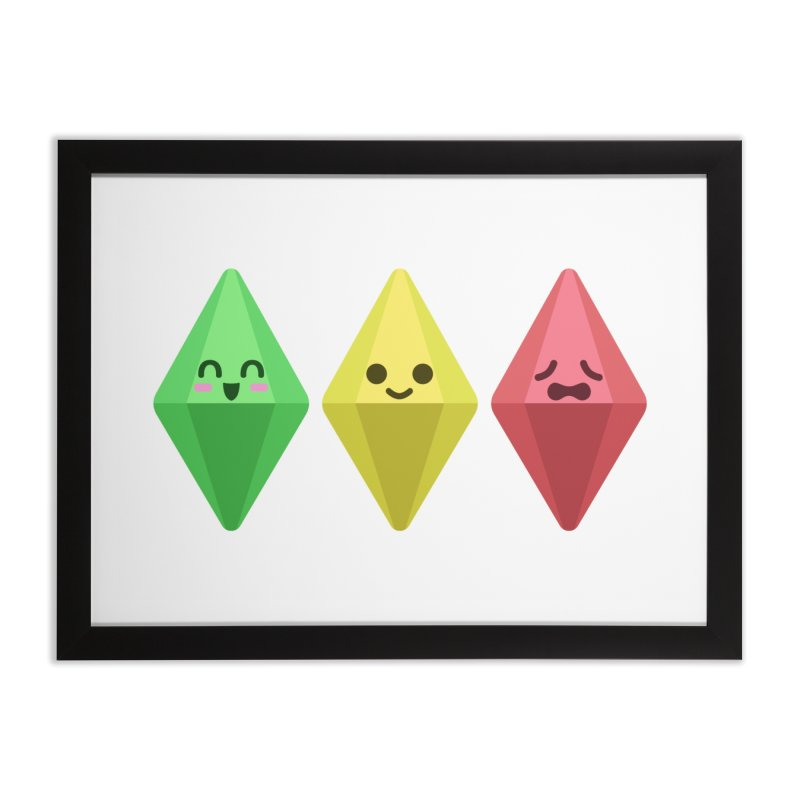 The Sims 18th Anniversary Home Framed Fine Art Print by The Sims Official Threadless Store