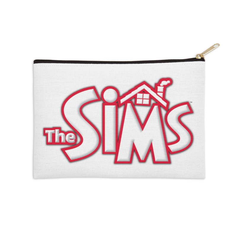 The Sims Logo Accessories Zip Pouch by The Sims Official Threadless Store