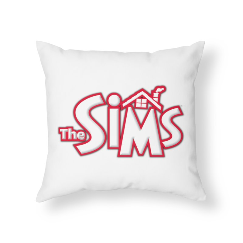 The Sims Logo Home Throw Pillow by The Sims Official Threadless Store
