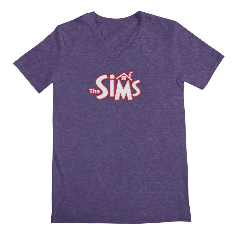 The Sims Logo Men's Regular V-Neck by The Sims Official Threadless Store