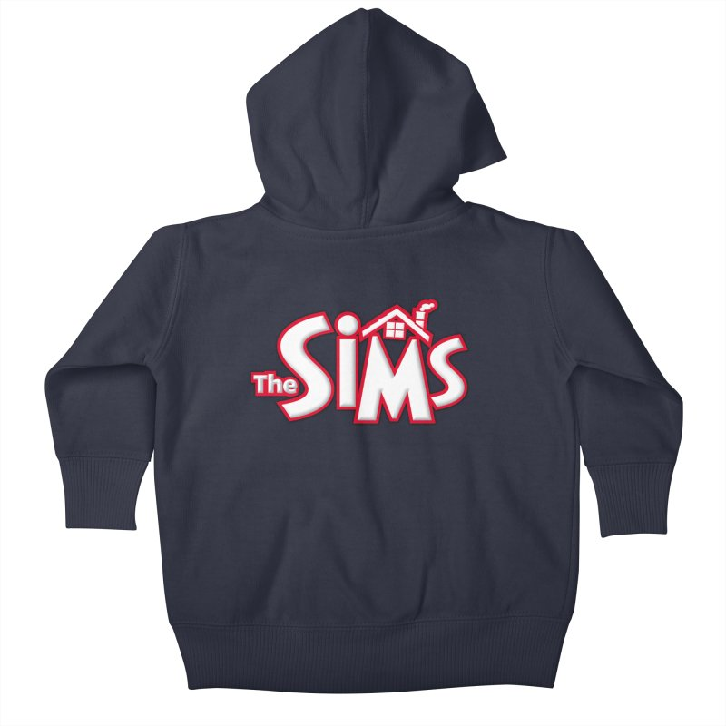 The Sims Logo Kids Baby Zip-Up Hoody by The Sims Official Threadless Store