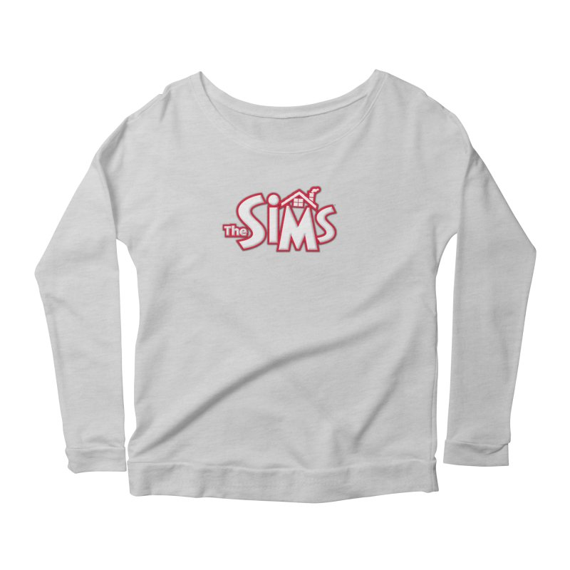 The Sims Logo Women's Longsleeve Scoopneck  by The Sims Official Threadless Store