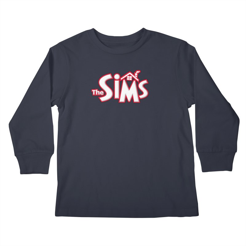 The Sims Logo Kids Longsleeve T-Shirt by The Sims Official Threadless Store