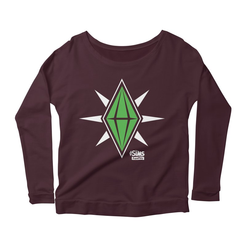 The Sims FreePlay Women's Longsleeve Scoopneck  by The Sims Official Threadless Store