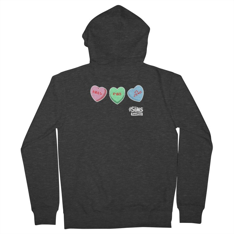 The Sims FreePlay Candy Hearts Men's Zip-Up Hoody by The Sims Official Threadless Store