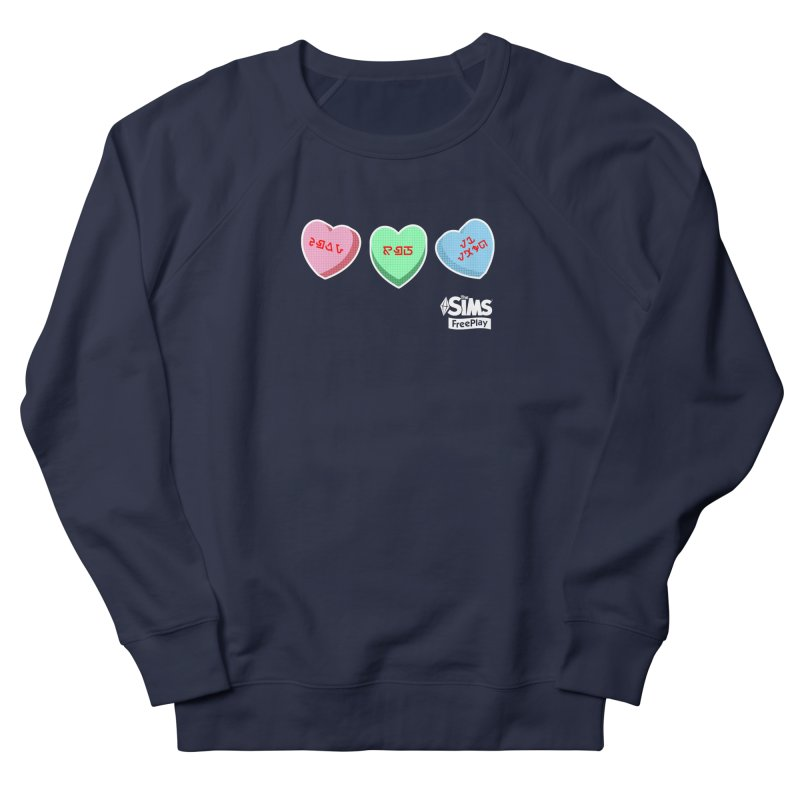 The Sims FreePlay Candy Hearts Women's French Terry Sweatshirt by The Sims Official Threadless Store