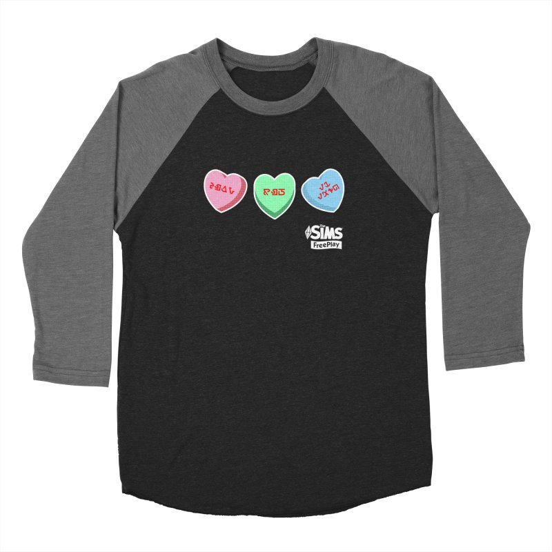 The Sims FreePlay Candy Hearts Men's Baseball Triblend T-Shirt by The Sims Official Threadless Store