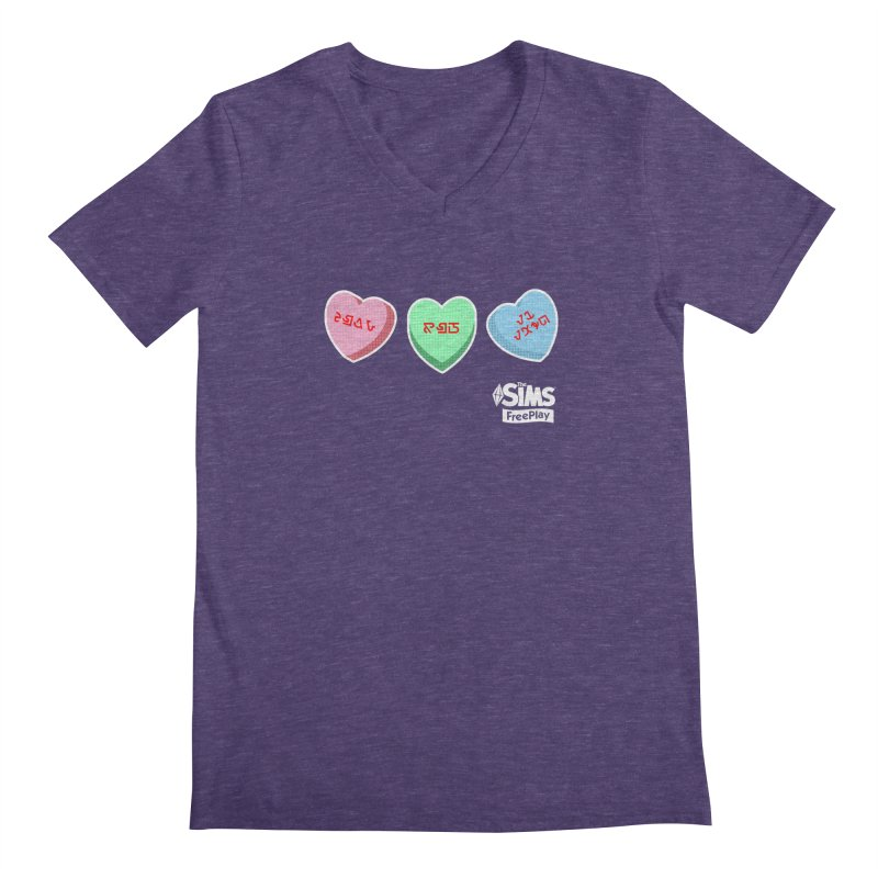 The Sims FreePlay Candy Hearts Men's V-Neck by The Sims Official Threadless Store